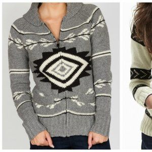 Triple Five Soul Cowichan Zip Up Cardigan